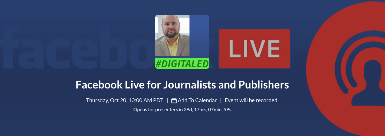 Sign up for DigitalEd's training on Facebook Live.