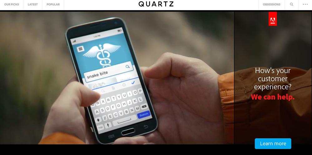 An example of Quartz's native advertising.
