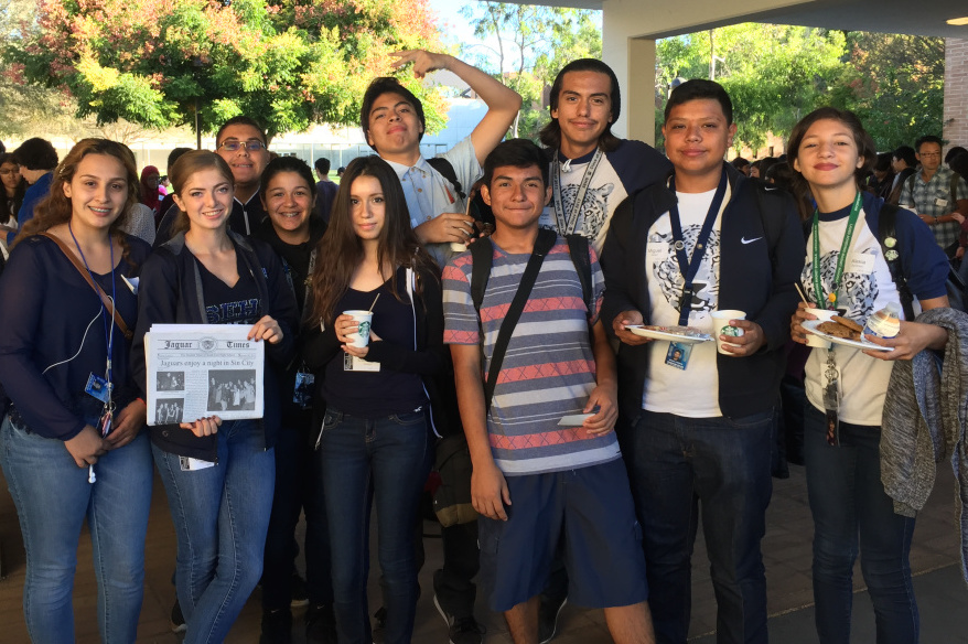 Students from Southeast High School at a HS Insider student journalism conference at Cal State, Northridge.