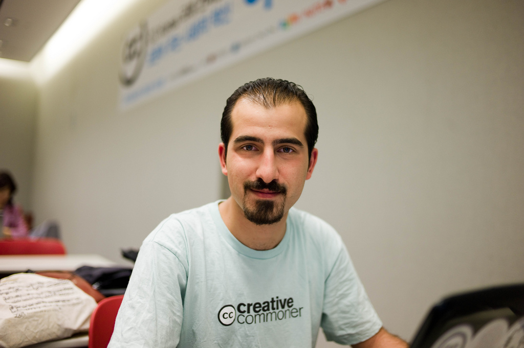 Bassel Khartabil disappeared from his prison cell in Syria one year ago. Photo by Joi Ito on Flickr  and used here with Creative Commons license.