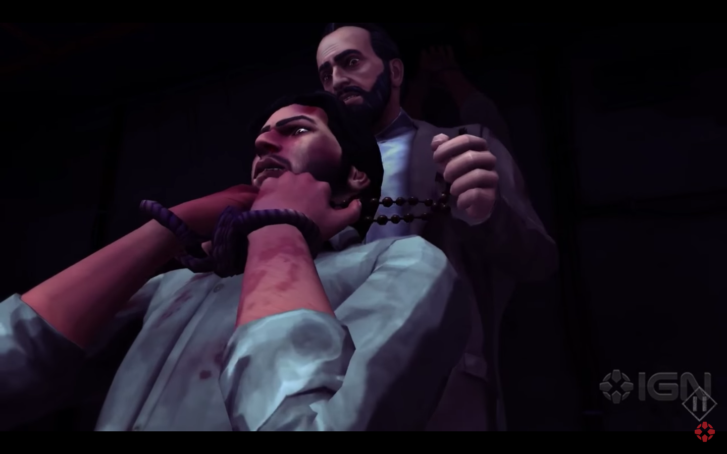"""A screen shot from 1979 Revolution, a """"docu-game"""" about the Iranian Revolution."""