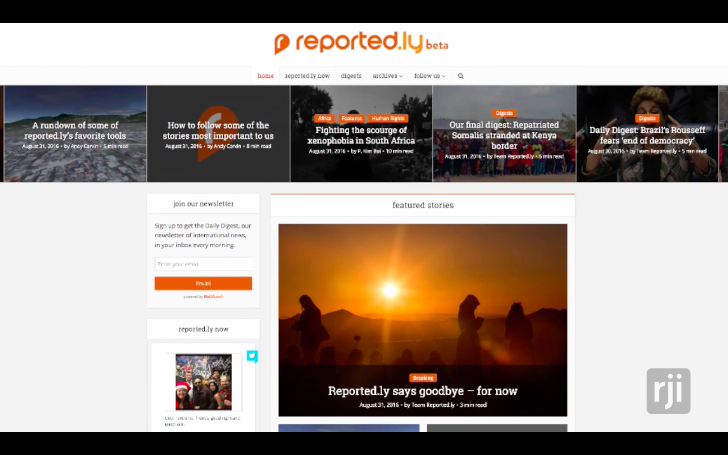 Reported.ly was shuttered on Aug. 31.