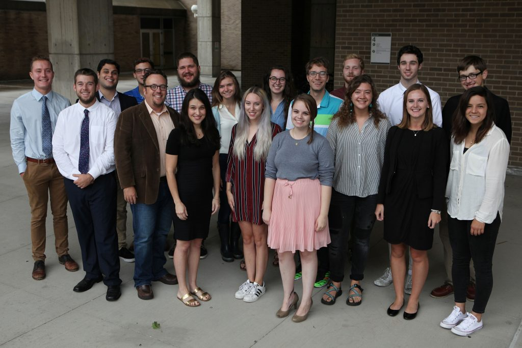 The inaugural class of The Observatory, a fact-checking effort at the University of Wisconsin-Madison. (Photo courtesy of Cobern Dukehart, Wisconsin Center for Investigative Journalism)
