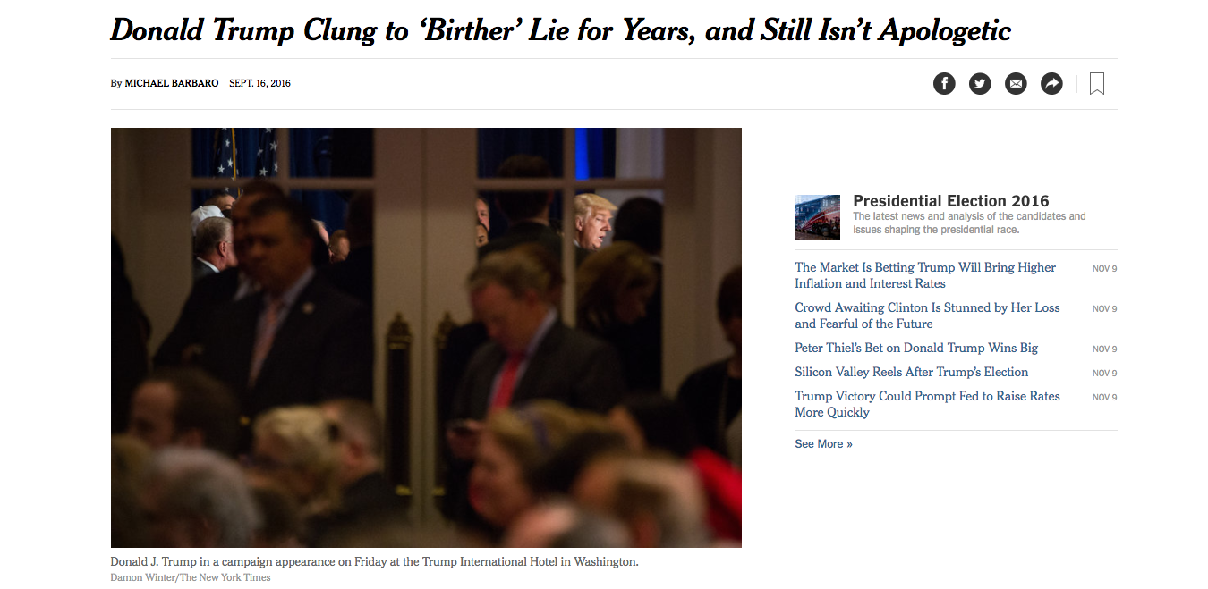 The New York Times received some backlash for its decision to call Donald Trump a liar in two stories and in a headline. Staffers explained that decision on Tuesday night.