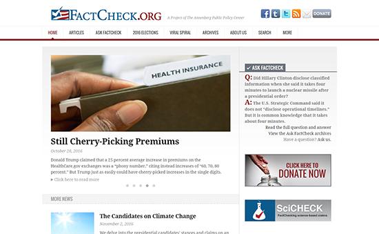 FactCheck.org aims to keep politicians honest.