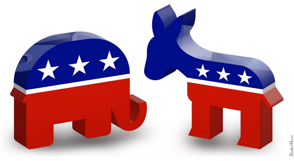 GOP Elephant and Democrat Donkey