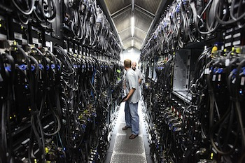 Photo of Microsoft data center by Robert Scoble via Flickr.