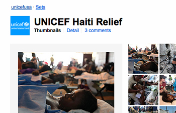 http://www.pbs.org/mediashift/unicef%20haiti%20flickr