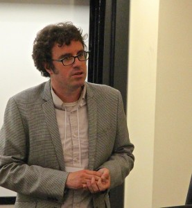 Chris Anderson, CUNY Graduate School of Journalism research director at NJ Media Lab Conference at Montclair State University, Photo by MSU's Steve Johnson