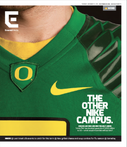 A November cover story about Nike's influence on the UO campus.