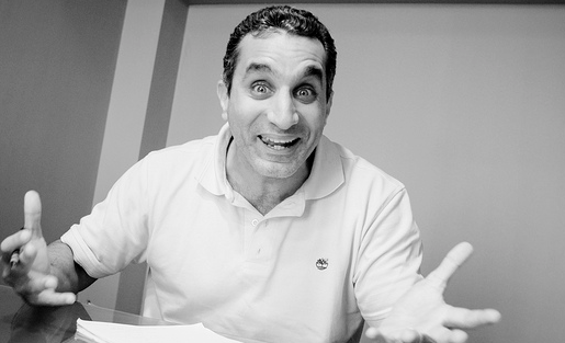 Egyptian comedian Bassem Youssef was recently interrogated for mocking President Morsi Photo by Hossam Hamalawy, Creative Commons BY-NC-SA 2.0.