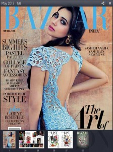 The Indian edition of Harper's Bazaar is available through Magzter, along with many other international magazines.