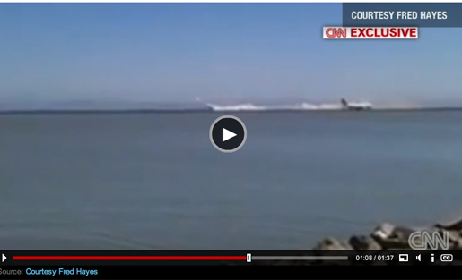 SFO crash video