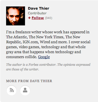 Forbes.com contributor Dave Thier has made nearly 1,000 posts
