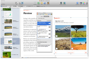 Apple's iBooks Author includes accessibility features.