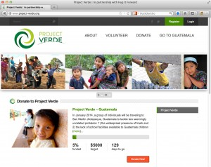 Project Verde uses the FundingPress theme for WordPress