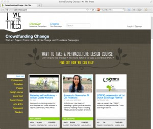 Crowdfunding Change | We The Trees is powered by CrowdfundHQ