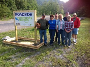 A MacDowell County Community Garden's New Sign Photograph Courtesy of Linda McKinney, Hollow participant