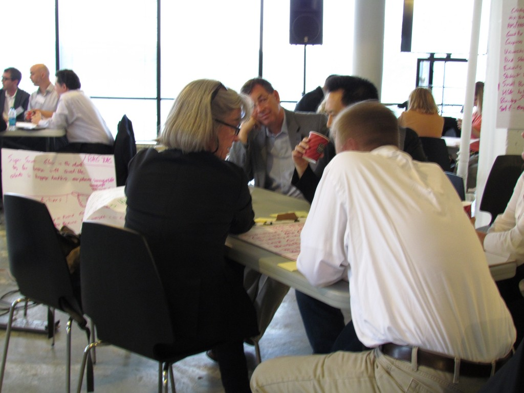 Participants discuss solutions to Clear Health Costs' challenges.
