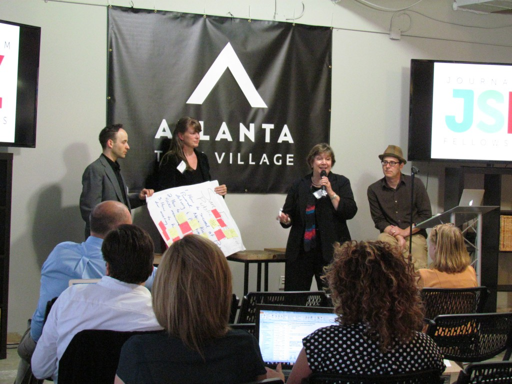 San Francisco Public Press and Carolina Public Press present solutions to that came from the breakout sessions.