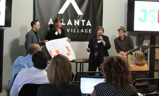 San Francisco Public Press and Carolina Public Press present solutions to what came from the breakout sessions.