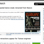 Retraction Watch, one of the censored blogs