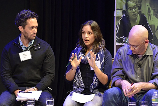 Gilad Lotan, Monica Guzman and Clay Shirky