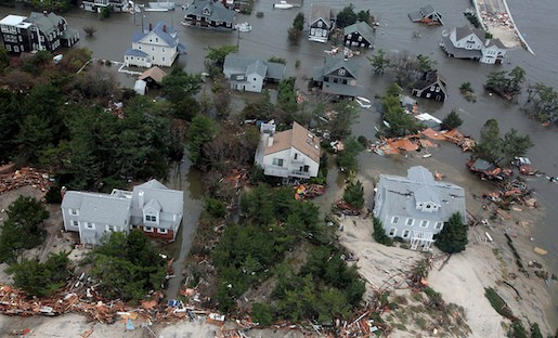 Aerial view of the New Jersey coast after Hurricane Sandy. Image from DVIDSHUB on Flickr. Licensed under Creative Commons.