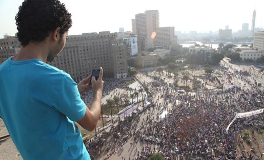 Courtesy WITNESS, Tahrir Square, Egypt, 2012