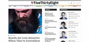 A screenshot of FiveThirtyEight.com.