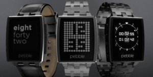 The Pebble smartwatch. Product image.