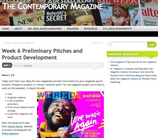 The Contemporary Magazine course website