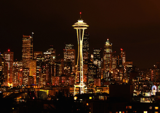 The Seattle metropolis' proximity to so much water and potential for traffic kept the newspaper from leaving downtown. Photo by Tiffany Von Arnim on Flickr and used here with Creative Commons license.