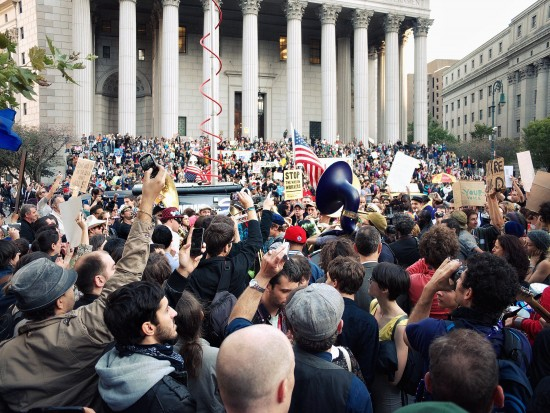 Covering Occupy Wall Street. October 2011. (photo: Timothy Karr)