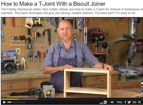 Collier himself stars in some of The Family Handyman's videos.