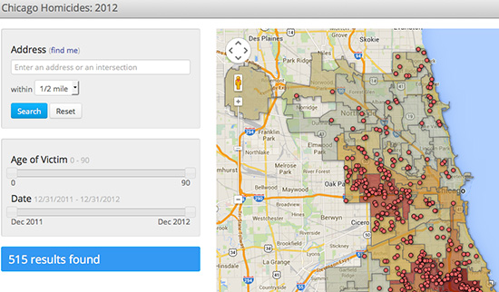 Red Line Project Searchable Crime Map