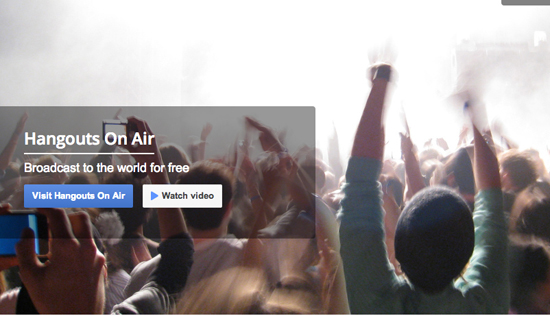 hangouts on air grab