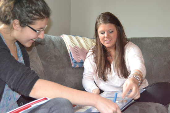 Rutgers student Mary Diduch, interviews 9/11 child Gina DiFazzio.