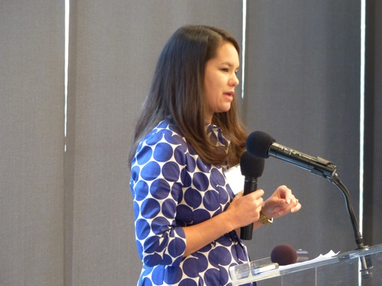 Kimberly Lau gives the keynote at Collab/Space NYC