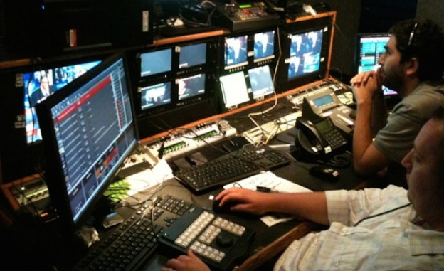 The noise and chaos of newsrooms and live trucks can sometimes be overwhelming for students