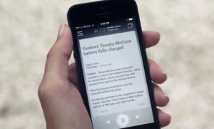 Newsbeat, a new app from the Tribune Company, converts top stories of the day into Pandora-like playlists of spoken-word audio.