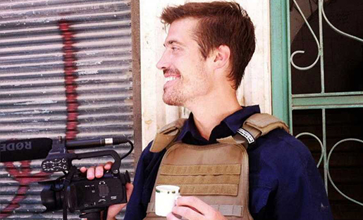 Freelance video journalist James Foley in Syria before he was captured in November, 2012 (Courtesy www.freejamesfoley.org).