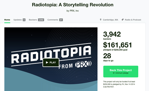 Radiotopia had a widely successful Kickstarter campaign (MediaShift file photo).