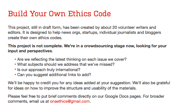 personal code of ethics paper
