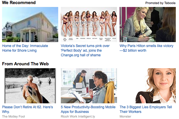 Content marketing, featuring Paris Hilton and Victoria's Secret models.