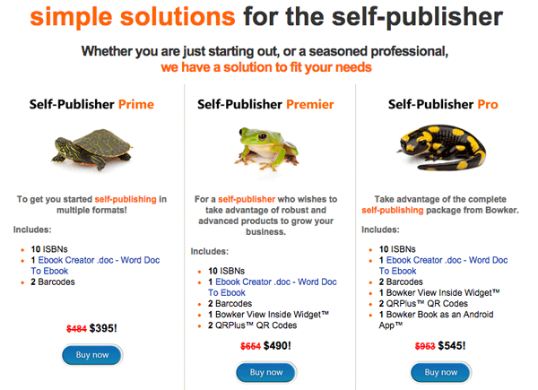 Bowker Self-Publishing Solutions