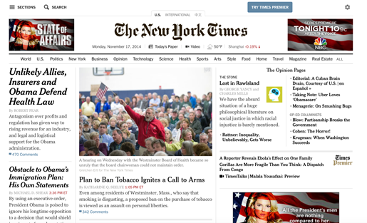Still a premier spot: The New York Times homepage takeover