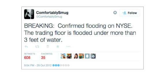 This fake tweet (above) set off a ripple of misinformation (below).