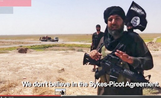 Screenshot photo of an ISIS propaganda video by Karl-Ludwig Poggemann and reused here with Creative Commons license.