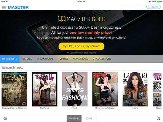 Magzter on the iPad.